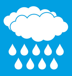 Rain icon white vector
