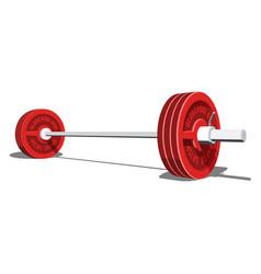 Realistic barbell 3d vector
