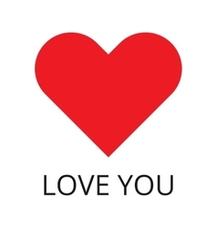Red Heart Shape and inspiration Love You vector