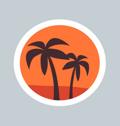 round sketch wonder palms vector image