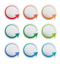 Round stickers vector image