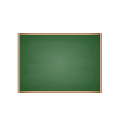 rubbed out chalkboard with empty green space vector image
