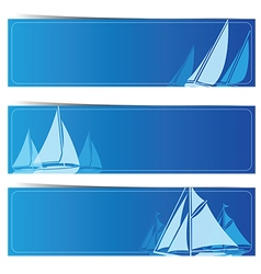 Sailboat banners2 vector image