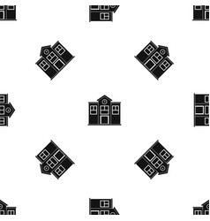 School pattern seamless black vector