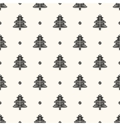Seamless retro pattern christmas trees vector