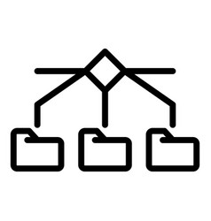 Server folders icon outline style vector