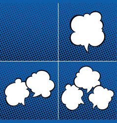 Set of speech bubbles on blue background vector