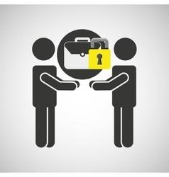 Silhouette men portfolio internet safety vector