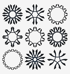 Simple set of design elements vector image