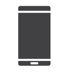 smartphone glyph icon web and mobile phone vector image