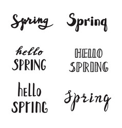 Spring calligraphy lettering quotes vector