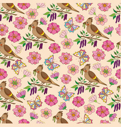 Spring pattern 2 vector