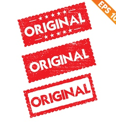 Stamp sticker original tag collection - - E vector image