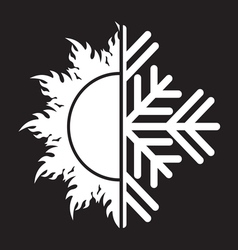 Summer winter air conditioning icon31 resize vector