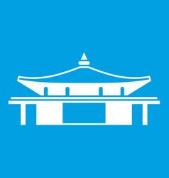 Temple icon white vector