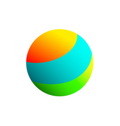the ball of different colors on a white background vector image