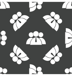 Three people group pattern vector image