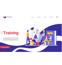 Training business people landing page team vector