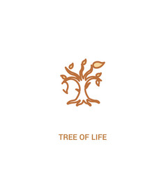 Tree life concept 2 colored icon simple line vector
