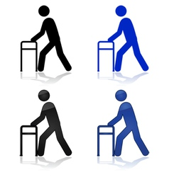 walking aid vector image