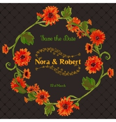 wedding save date invitation card vector image