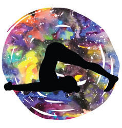 Women silhouette plow yoga pose halasana vector