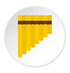 Xylophone icon circle vector
