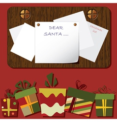 christmas background empty blank vector image vector image