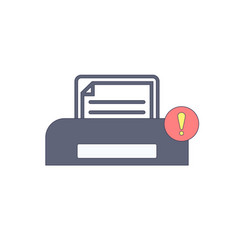 document paper print printer warning icon vector image