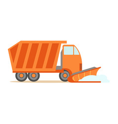 heavy truck with empty trailer part of roadworks vector image vector image