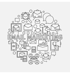 Round email marketing vector image vector image