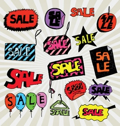 sale colorful vector image vector image