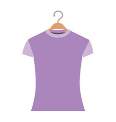 colorful silhouette of woman t-shirt in hanger vector image