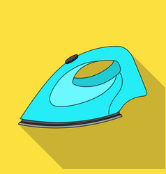 Iron for ironing dry cleaning single icon in flat vector