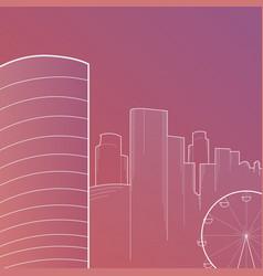 modern big city skyline background with vector image