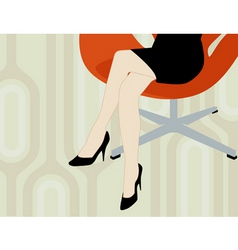 office lady vector image vector image