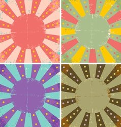 Set of of old sheets of paper vector image vector image