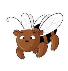 teddy bear dressed as a bee vector image