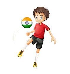 An Indian soccer player vector image vector image