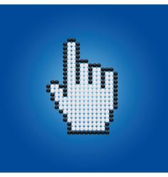 cursor hand vector image vector image
