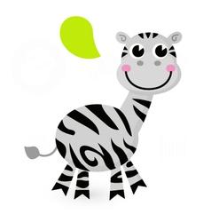 Cute cartoon Zebra vector image