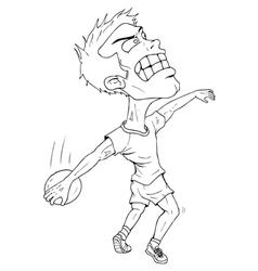 Disc Thrower Cartoon vector image vector image
