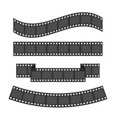 Film strip frame set Different shape ribbon Design vector image