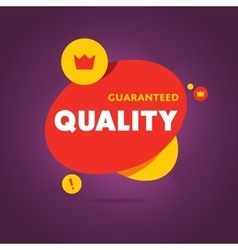 Guaranteed quality flat banner vector