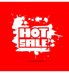 Hot Sale Title on Red Background vector image