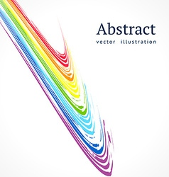 Abstract background with bright color lines vector