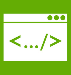 code window icon green vector image