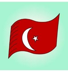 Flag of Turkey pop art vector image