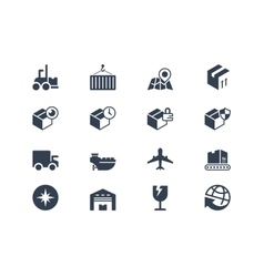 Logistic and shipping icons Lyra series vector image vector image