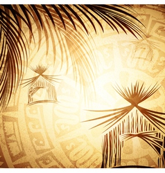 Vintage Tropic Background vector image vector image